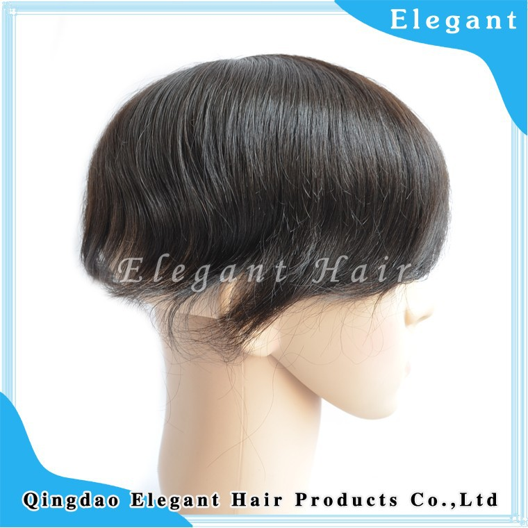 New natural wave malaysian human hair swiss lace hair system wholesale for men