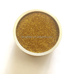 wholesale PET glitter powder in gold color