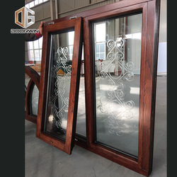 Factory wholesale aluminum american crank casement window aluminium wood windows grain