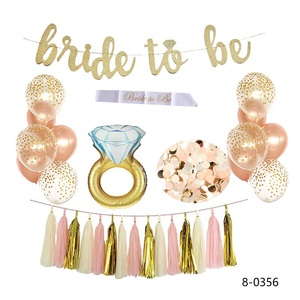 Bride to Be Banner Bachelorette Party Supplies Ring Balloon Bridal Shower Decor