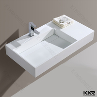 Construction material acrylic solid surface bathroom wash basins