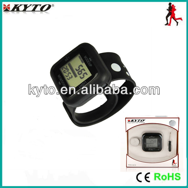 Heart rate monitor with accelerometer/Digital usb wristband step counter/Gift 3D pedometer watch