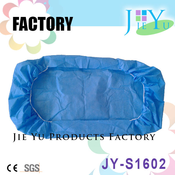 Disposable nonwoven Elastic blue bed sheet for hospital hotel