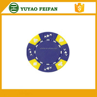 three color poker chips clay cheap poker chips plaque 13.5g