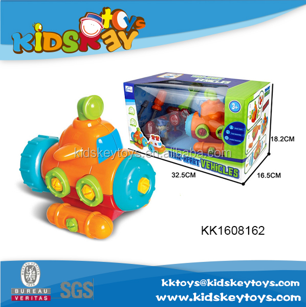 Cartoon plasctic disassembly toy submarine for sale