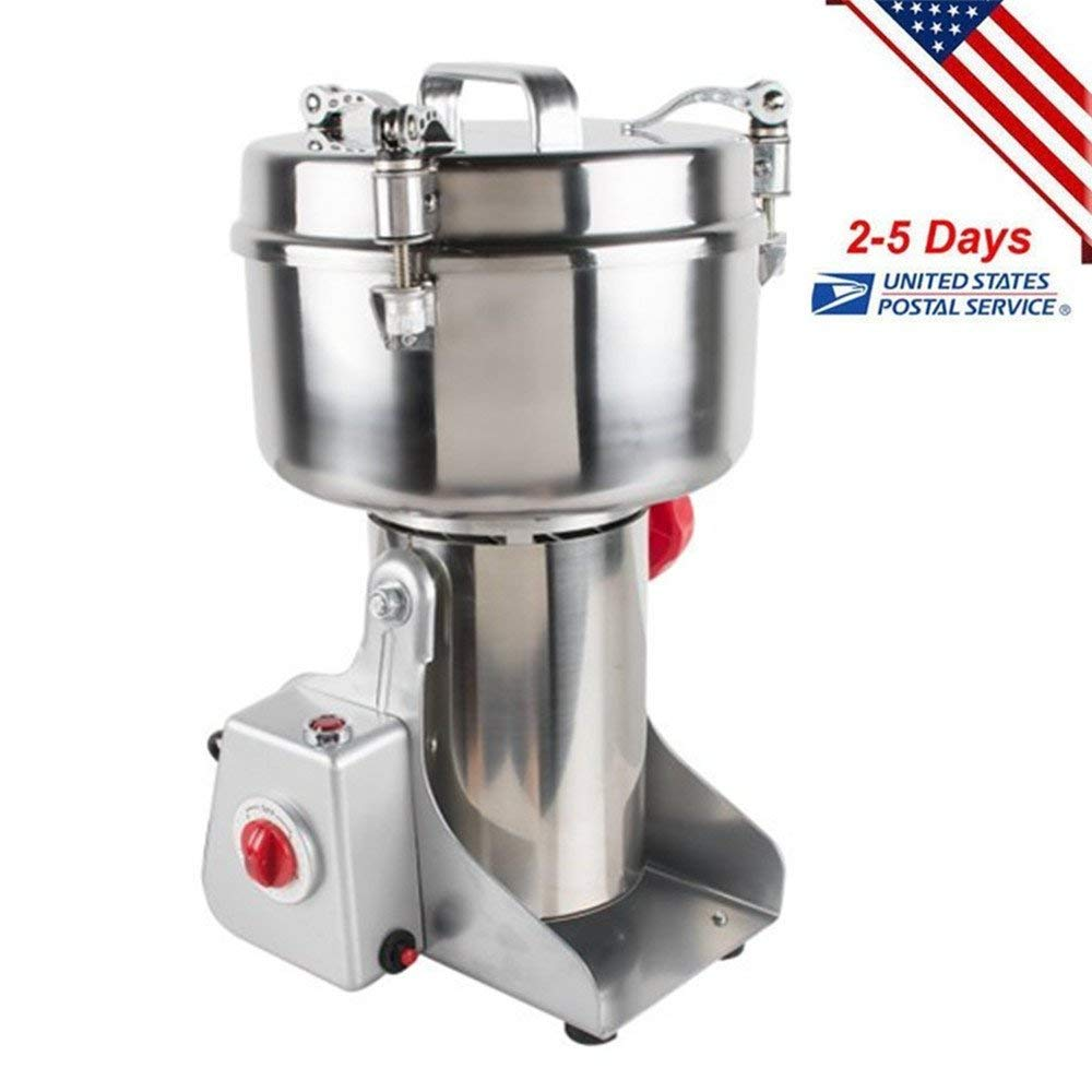 Funwill Shipping from USA 1000g Household Chinese Herbal Medicine Grinder Electric Milling Machine Stainless Steel Crushing Chamber Swing-type Pulverizer