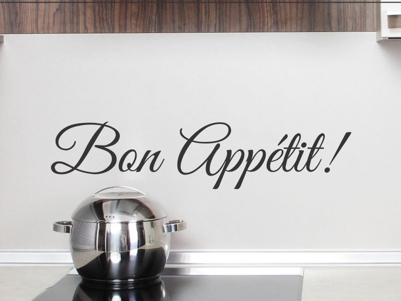 French Word Bon Appetit Wall Decal Kitchen Vinyl Wall