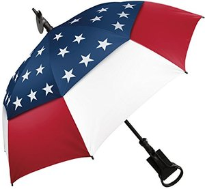 Manufacturer dropshipper multifunctional polyester fabric 116 cm 8 ribs auto open seat umbrella for sale USA flag