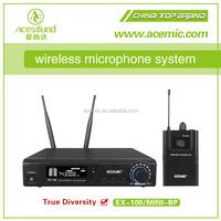 Wholesale UHF FM professional wireless bodypack collar microphone ...