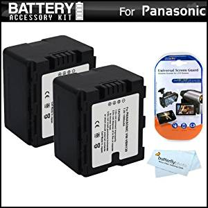 2 Pack Battery Kit For Panasonic HC-X920, HC-X920M, HDC-SD800K 3 MOS Twin Memory 3D Compatible Camcorder Includes 2 Extended Replacement (1500Mah) VW-VBN130 Batteries (Fully Decoded!) + LCD Screen Protectors + MicroFiber Cleaning Cloth