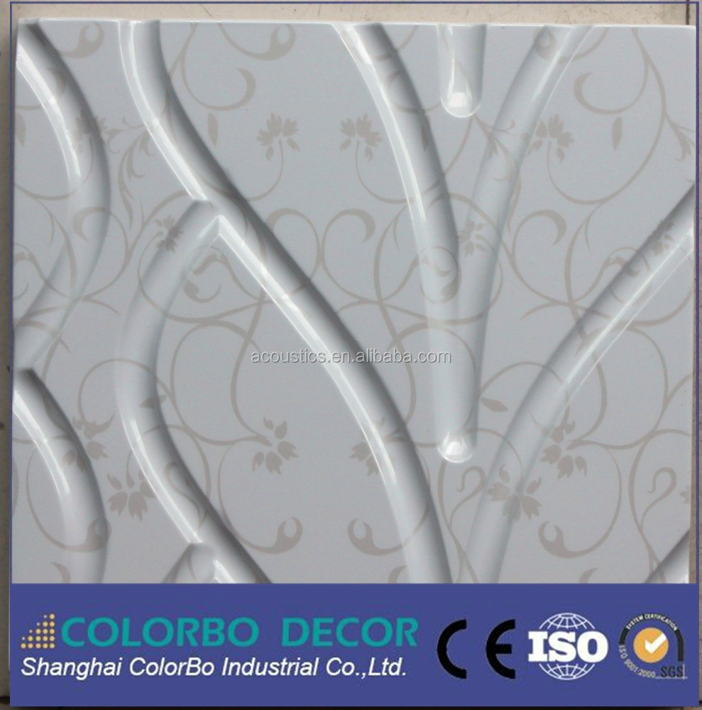 1224*2440mm (4 ''* 8'') material de la decoración de la pared 3D MDF HDF panel en relieve