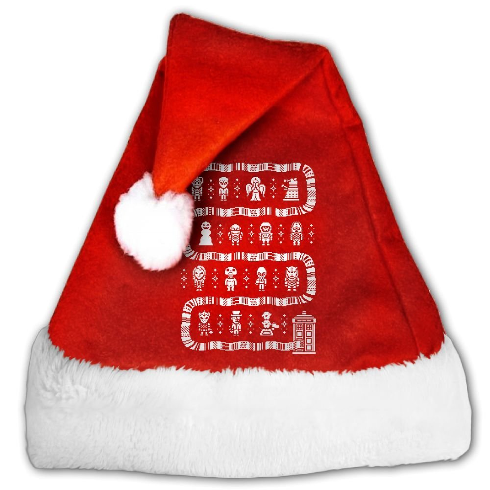 Geeky Ugly Christmas Christmas Hat Velvet Santa Claus Hat S Size For Kid,M Size For Adult