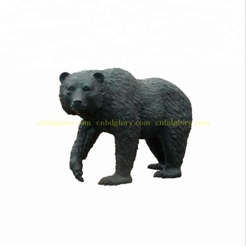 Outdoor garden decor Life Size Bronze statue Bear Sculpture