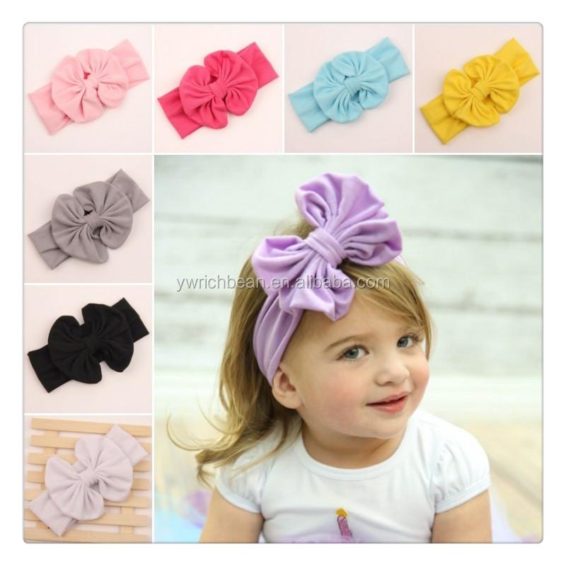 New 2015 Baby Girl Cotton bow Headwrap Floppy Big Bow Turban Headband for  Newborn Hair Baby Top Knot HeadbandWH-1329 04644b35d1e
