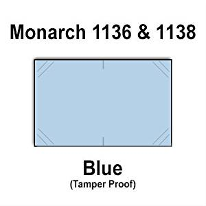 112,000 Monarch 1136/1138 compatible Blue General Purpose Labels to fit the Monarch 1136, Monarch 1138 Price Guns. Full Case + includes 8 ink rollers.
