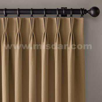 French Pleat Curtain Triple Folding Shower