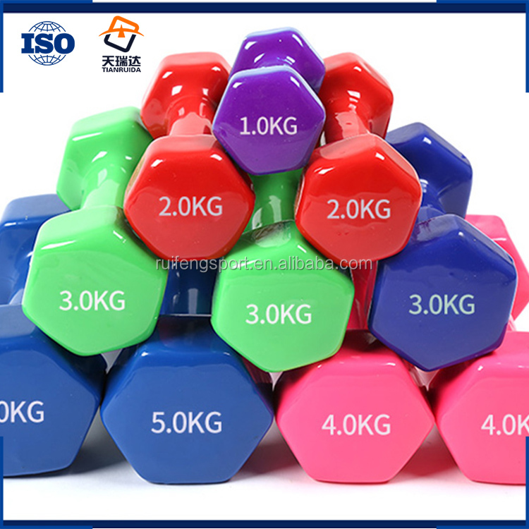colorful Vinyl Neoprene Coated Dumbbells 100 lb dumbbell