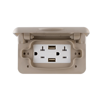 Rv Electrical Outlet >> Weatherproof Rv Receptacle Cover In Grey Outdoor Replacement