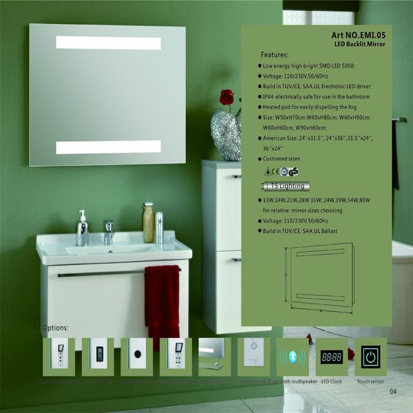 eterna led clairage maquillage miroir htel salle de bains miroir radio avec bluetooth haut parleur - Miroir Salle De Bain Antibuee Radio
