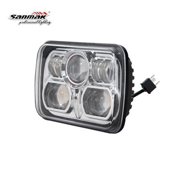 New 7 inch Square 5x7 Jeep Fog Light High Low Beam Car LED Head Light for Jeep Motorcycle