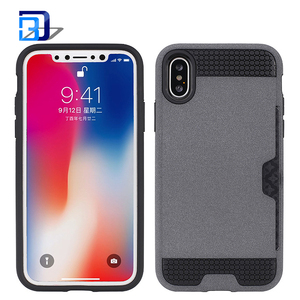 For iphone x case fluff paint cover dual layer tpu pc phone case with credit card slot bulk buy from china