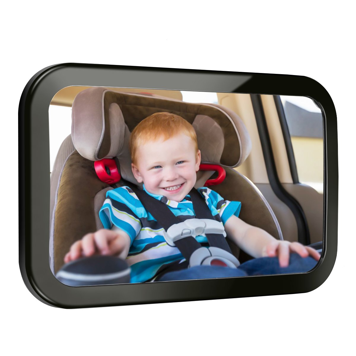 Yoolight Baby Car Rearview Mirror Back Seat Rear View Facing Infant in Sight Adjustable 2 Shatterproof and Crash Tested Mirror