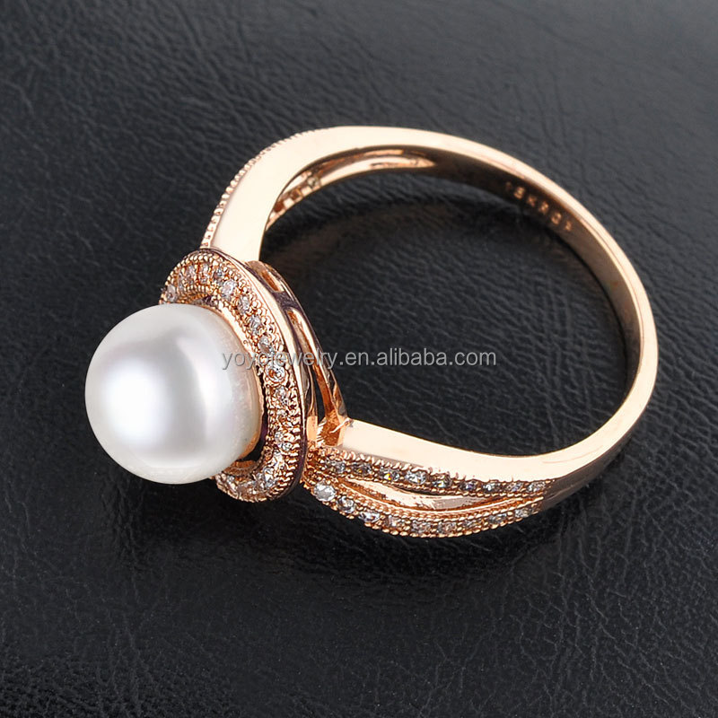 Equisite cultured latest pearl ring designs for women, View pearl ...