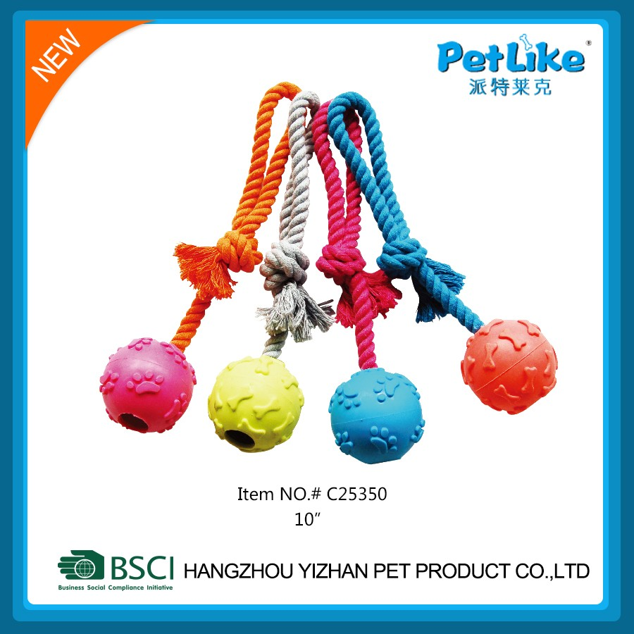 Premium quality customized design pet dog rope toy