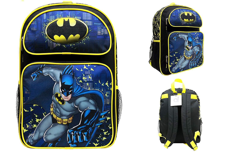 ede7bd9d35ef Get Quotations · Batman Large Backpack School Bag 16