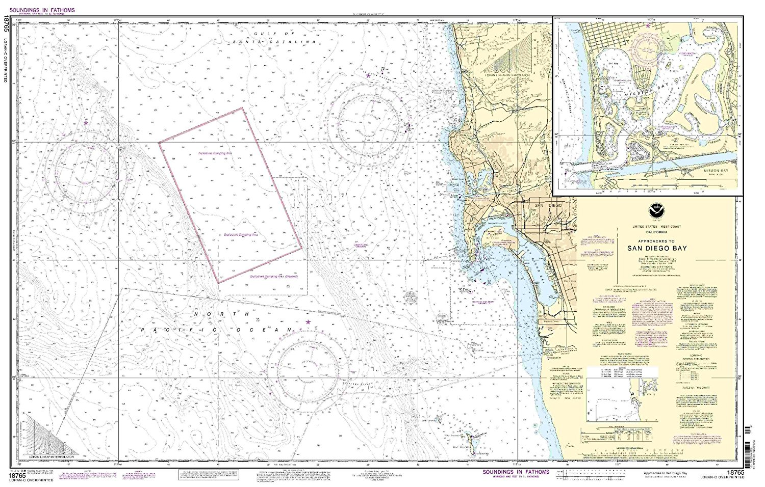 18765--Approaches to San Diego Bay, Mission Bay
