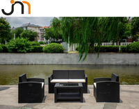 PP Injection Mould Plastic Garden Furniture Outdoor Sofa