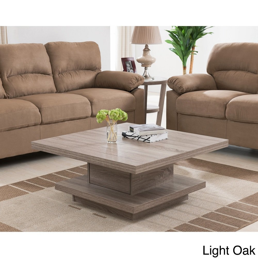 ... Wakiaka Unique Pagoda Coffee Side End Table Living Room Furniture Light  Oak