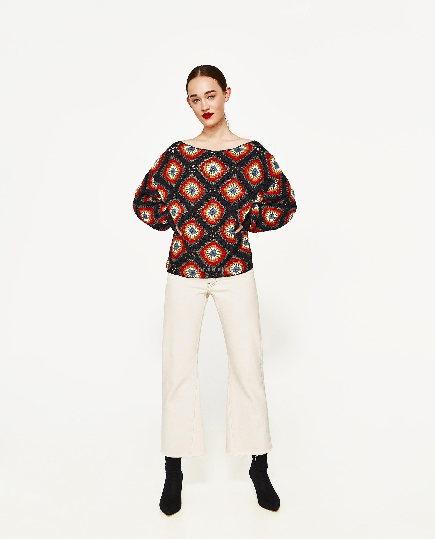 Yuhanya Custom Pattern Cuff Rib Decoration Loose Crochet Sweater ...