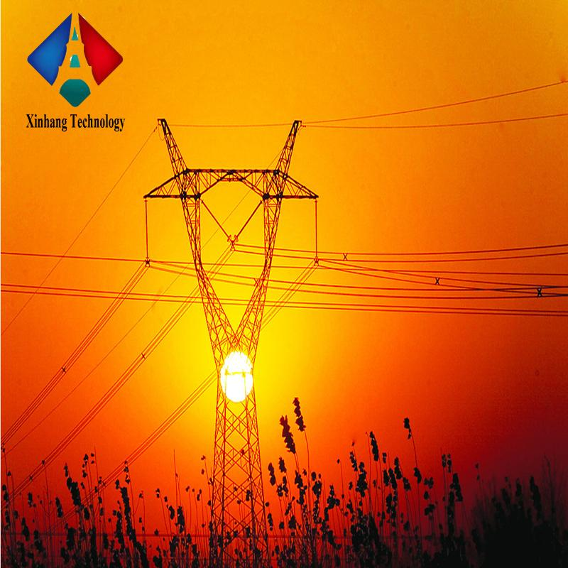 132kv electricity power poles overhead steel lattice masts 33kv double circuit transmission line