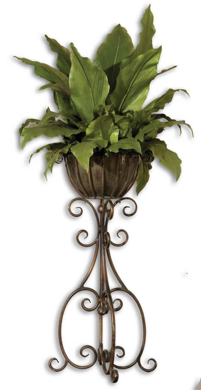 Cheap planter urns pedestal find planter urns pedestal deals on get quotations 62 artificial tropical foliage in hand forged pedestal removable planter izmirmasajfo