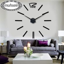 Luxusní velké nástěnné 3D hodiny 120 cm široké z Aliexpress