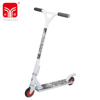 Attractive Design White Pro Kick Scooter, Stunt Scooter With 100 MM PU Scooter Wheels