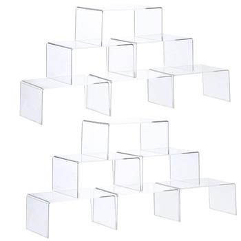 Clear Acrylic Display Risers Showcase for Jewelry