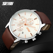Wide leather band watches vintage leather watch straps for men