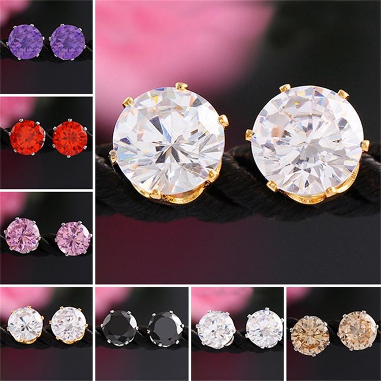 55e80cf06c95d Funky Cheap Wholesale Gold White Stone Round Crystal Rhinestone Ladies  Crown Zircon Diamond Ear Stud Earrings In Bulk For Girl - Buy Funky Cheap  ...