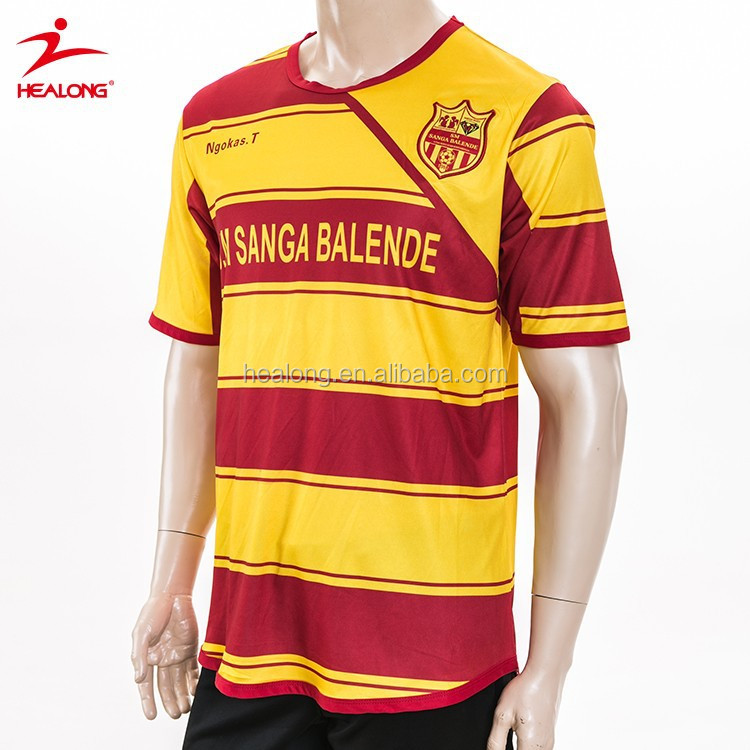 new product d343b 6252a Professional Striped Yellow And Red Soccer Jersey Wholesale Reversible  Soccer Jersey Factory Custom Ireland Soccer Jersey - Buy Yellow And Red  Soccer ...