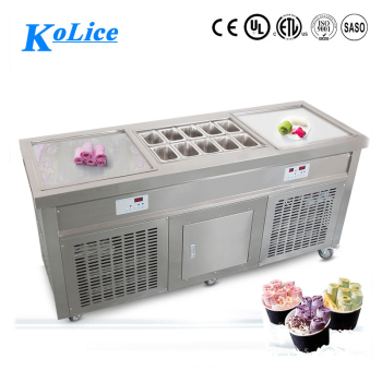 high proformance square pan fried ice cream machine