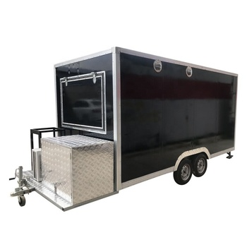 used food truck mobile food trailer hot dog food kiosk for sale