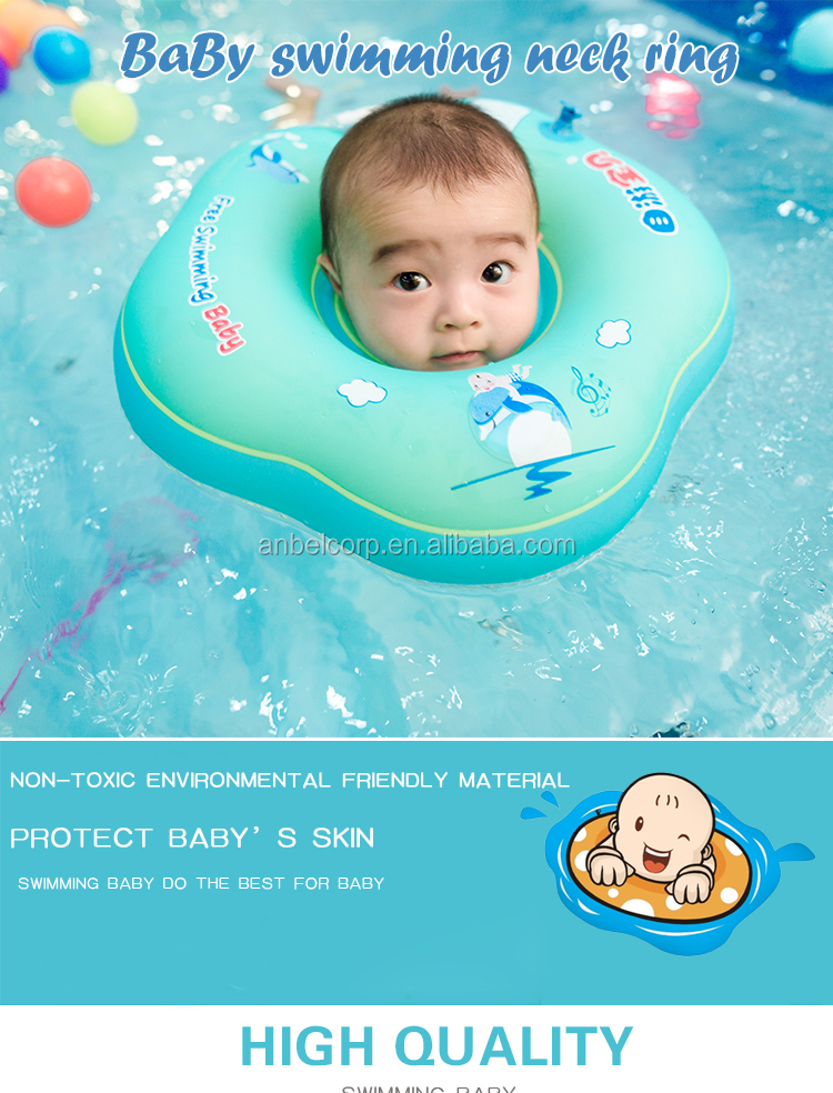Made In China Factory Oem Professional Inflatable Float Baby Swimming Neck Ring With Music Box Water Sport Float Trainer Tube