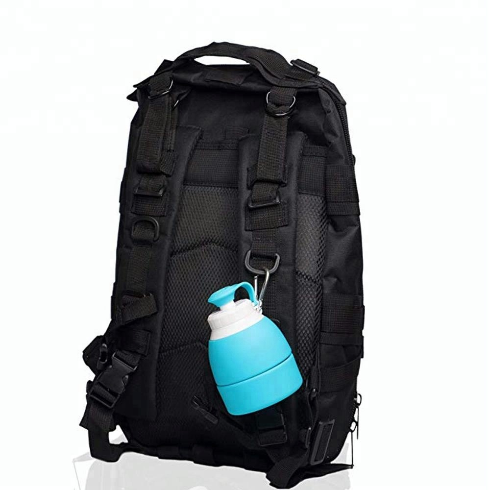Promotion Food Grade Custom Foldable Hot Watersport Silicone Travel Bottle Set