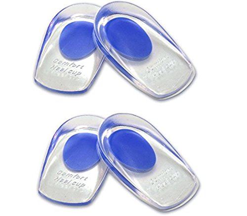 LOTGO Medical Grade Gel Heel Pad Silicone Cups Ankle Heel Pain Relief Cushion Shock Absorb Support