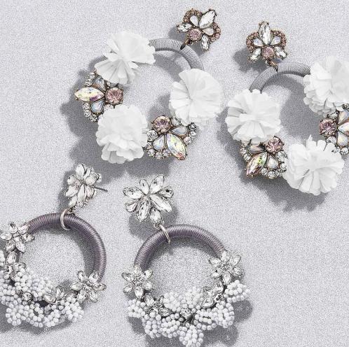 Dvacaman 2019 Fashion Personality Rose White Bohemian Free Fringes Drop Dangle Ear Clip Stud Earrings For Women Jewelry Gift фото