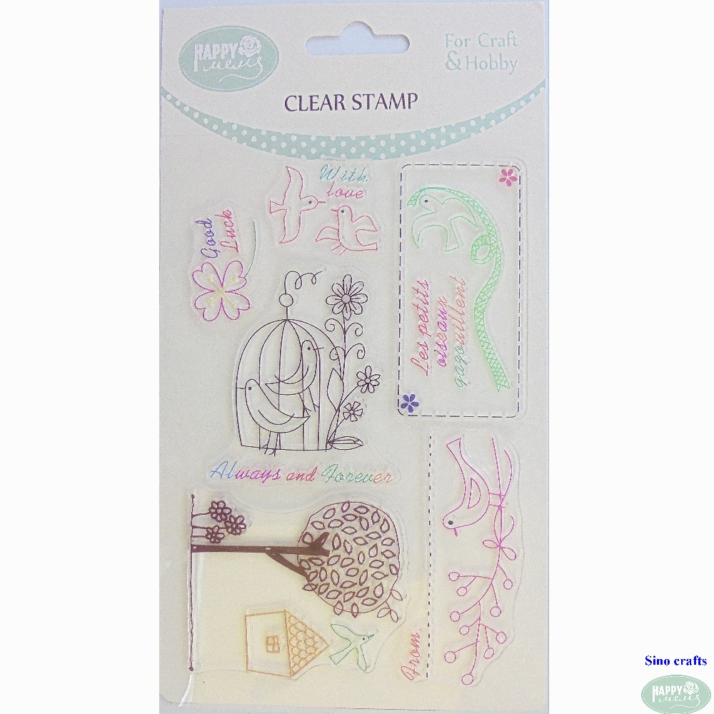 Spring collection clear custom rubber stamp transparent acrylic silicone clear stamp