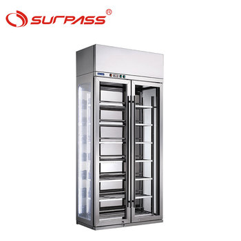 Stainless steel double door refrigerator wine cabinet display