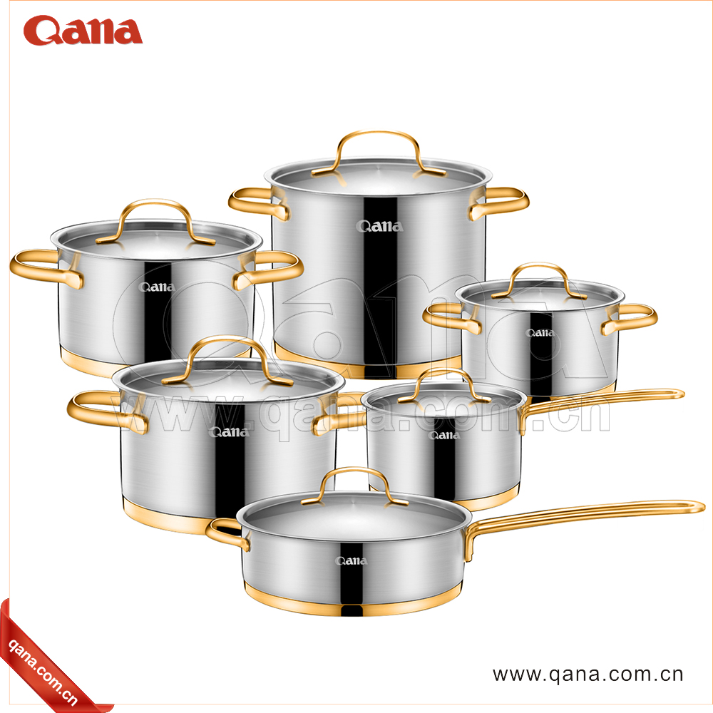 2017 Factory wholesale high quality cooking pots stainless steel cookware set